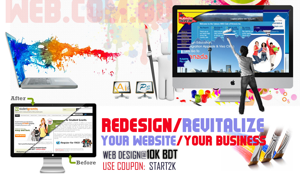 Website Redesign by Professional Bangladeshi Web Design Company