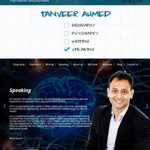 Personal website for Dr Tanveer Ahmed
